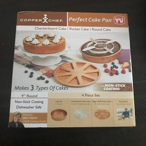Copper chef perfect cake pan brand new in package